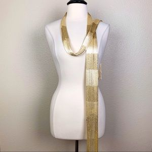 Accessories - Gold Fringe Scarf